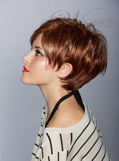 human hair high quality fashion short Wigs
