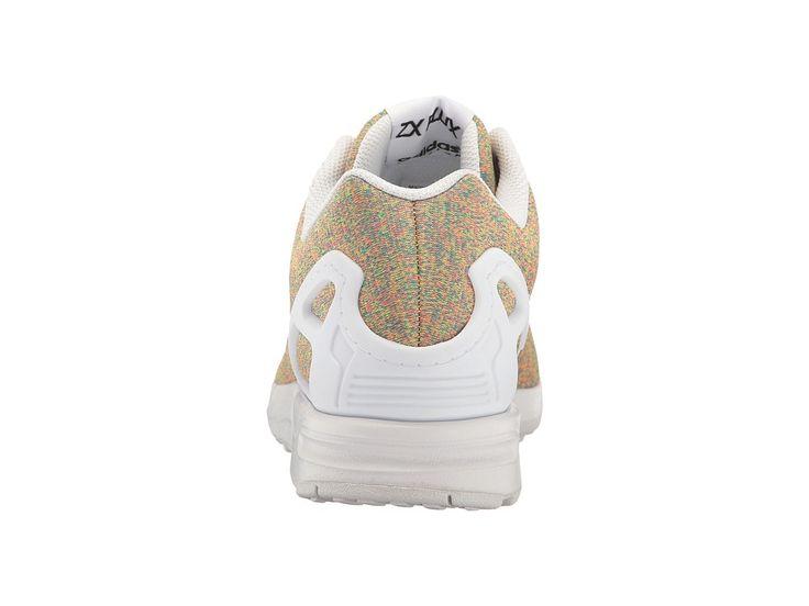 adidas Originals ZX Flux - Multicolor Knit Men's Shoes Footwear White/Footwear White/Footwear White
