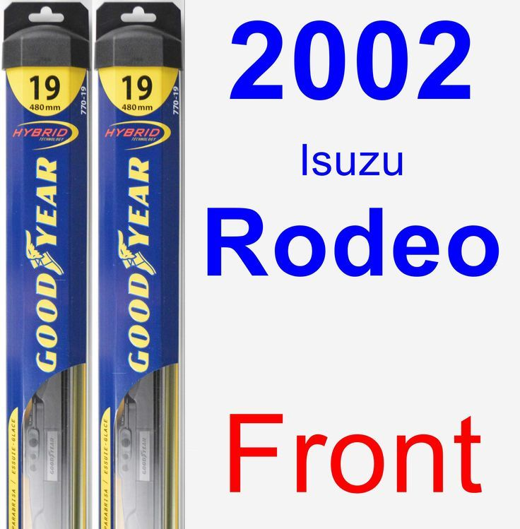 Cool Honda 2017 - Front Wiper Blade Pack for 2002 Isuzu Rodeo - Hybrid Check more at http://24cars.tk/my-desires/honda-2017-front-wiper-blade-pack-for-2002-isuzu-rodeo-hybrid/