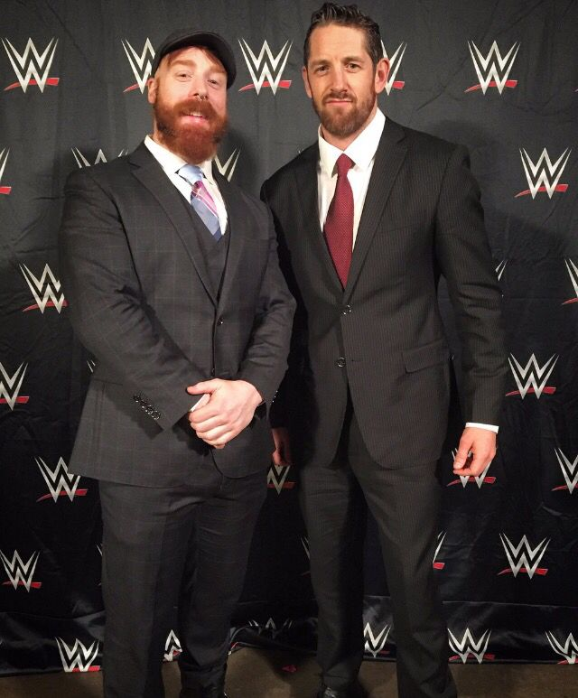 Sheamus & Wade Barrett @ Hall of Fame 2016. They look pretty good after they're cleaned up!