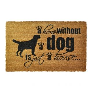 For dog lovers everywhere our Home without a Dog is Just a House Doormat makes a fun addition to your hallway design. #PinItToWinIt #Comp #Doorstop #Doormat #Competition #RomanAtHome  From: www.romanathome.com