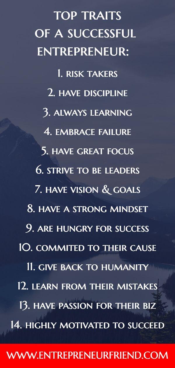15 Top Characteristics: of a Successful Entrepreneur   Let's