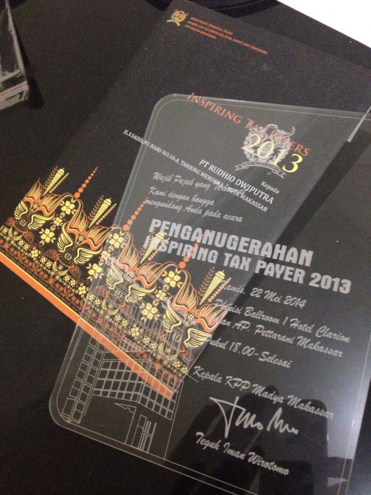 Full acrylic invitation