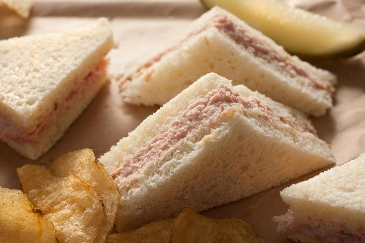 This deviled ham recipe mixes ham, mayonnaise, pickle relish, cayenne, Tabasco, and Dijon mustard into a smooth, spicy spread for sandwiches or crackers.