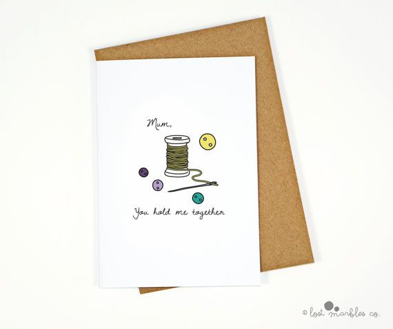 Sweet Mother's Day Card  Mum Card  Mom Card  For Her by Lost Marbles Co