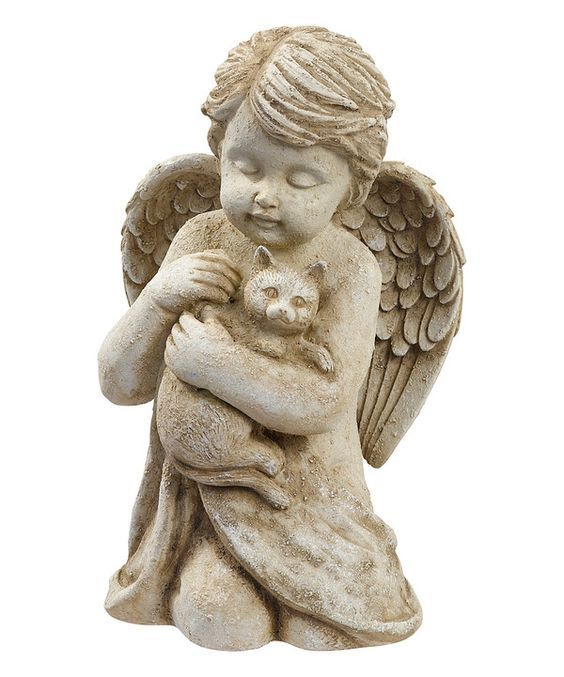 Look at this Cherub With Cat Statue on #zulily today!: