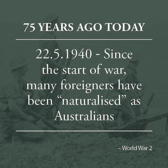 Visit www.australianwarstories.com.au to find out what was happening on the day your relative enlisted.