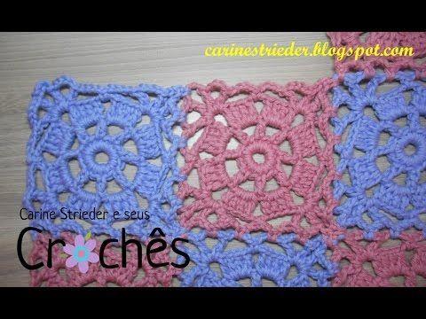 União do Square de Crochê nº 01 por Carine Strieder
