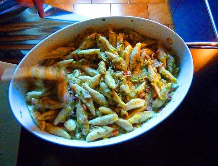 gnocchi di patate dolci con rigatino e scarola