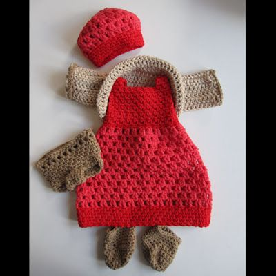 Virkatut nuken vaatteet / Crocheted Doll Clothes