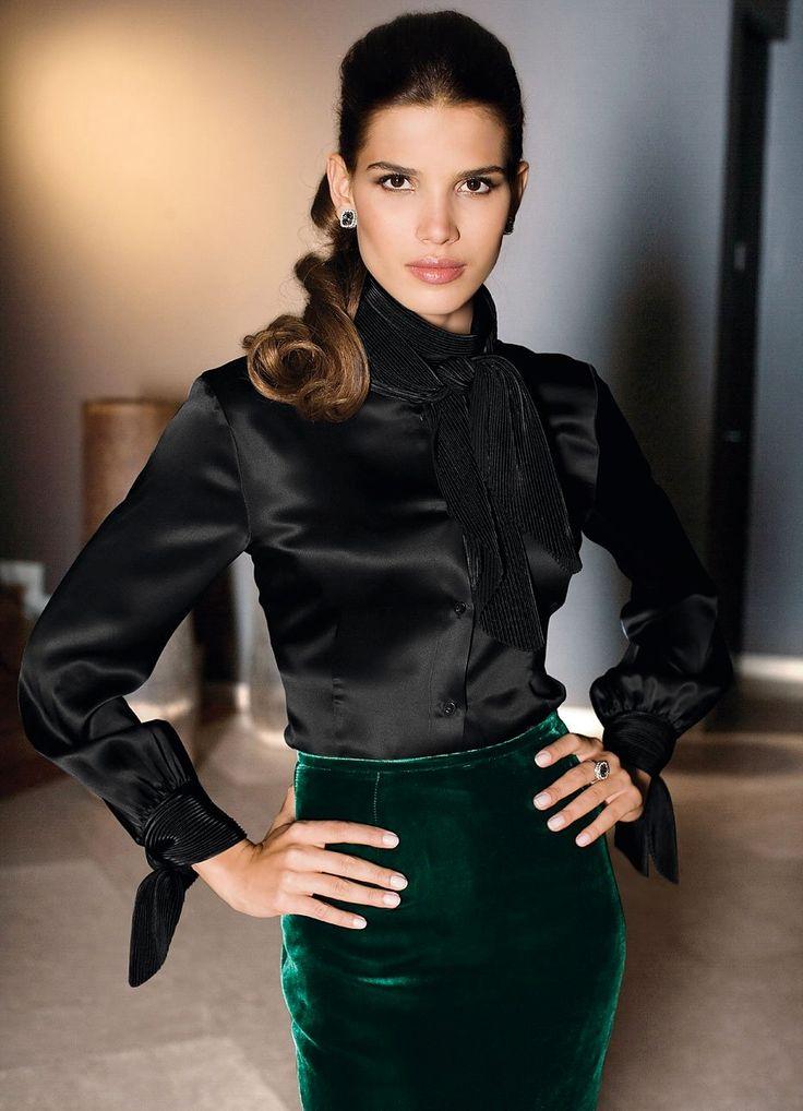 112 best images about Black navy satin blouse on Pinterest ...