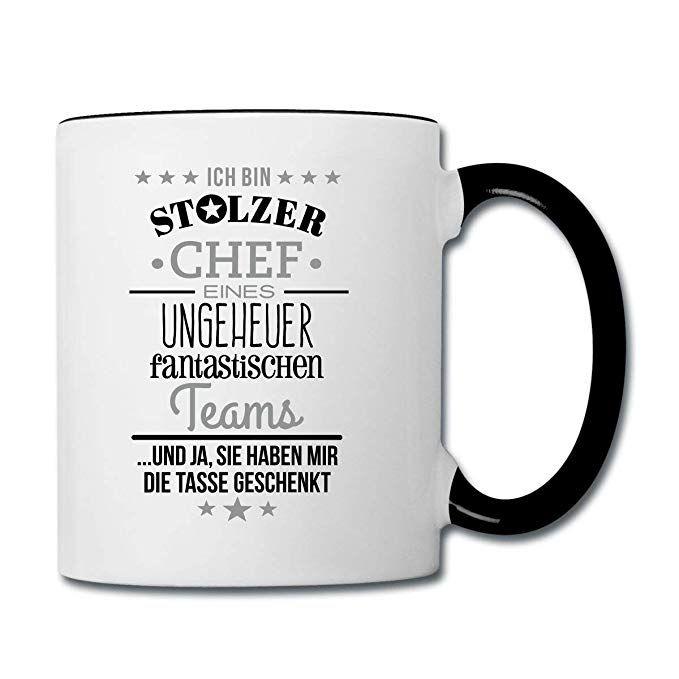 """Cup Team Fantastisch Tasse mit Spruch /""""Stolzer Chef/"""" Cool Mug Kaffee"""