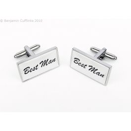 Custom Cufflinks - Best Man / Groomsman / Father of the Bride / Father of the Groom / Page Boy etc - made to order - you can choose fonts and colours to match your wedding