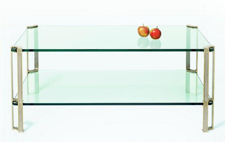 table basse carr e ou rectangulaire 2 plateaux verre pieds. Black Bedroom Furniture Sets. Home Design Ideas