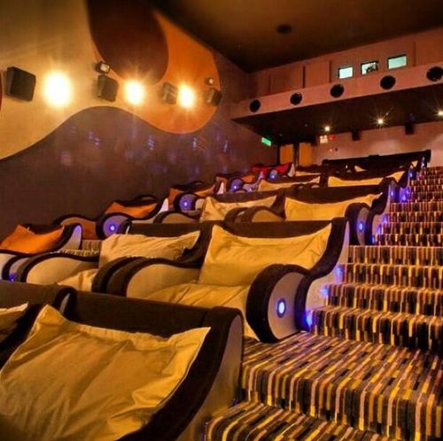 A movie theatre you can cuddle in I imagine people probably do more than cuddling considering they do anyways. ahhhh | What money can buy !!!