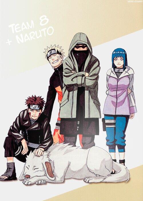 Team 8 and Naruto photobombing again.