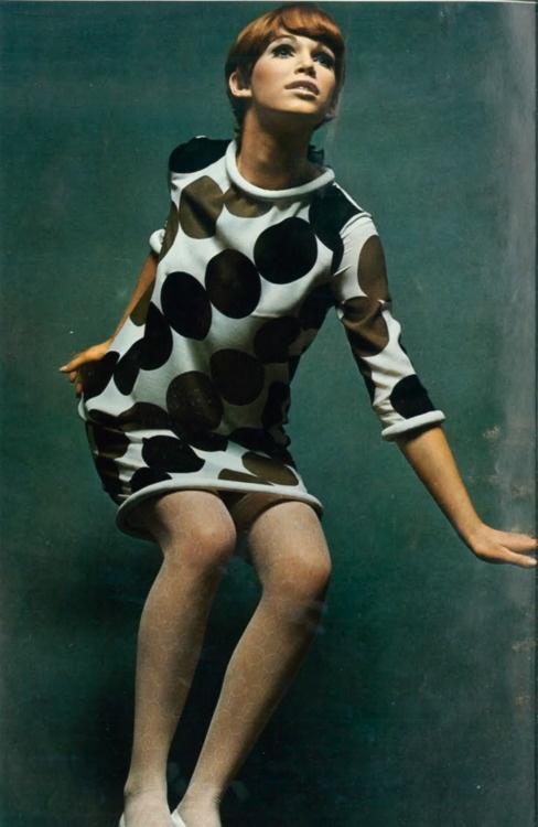 1967, Vogue60S Mod Fashion, Polka Dots, Vogue Paris, Vintage, 1960S Polka, 1960S Fashion, Dots Shift, 60S Style, 1960 S