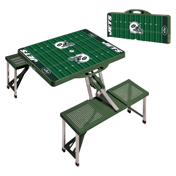 NFL New York Jets Portable Picnic Table by Picnic Time