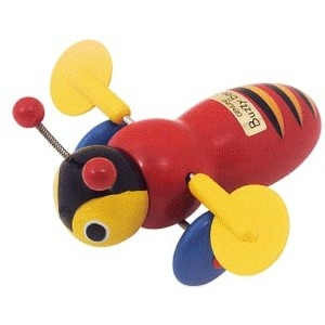 Designed and first produced in New Zealand in 1948 by Maurice Scheslinger, the Buzzy Bee is still a popular toy in New Zealand. It moves and makes a clicking noise while the toy is pulled along the ground.