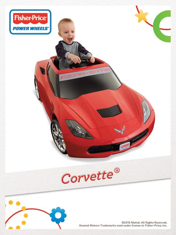 Drive in style with the all-new Power Wheels Corvette! For a chance to win, click here: http://fpfami.ly/014ez #FisherPrice #Outdoor #Toys