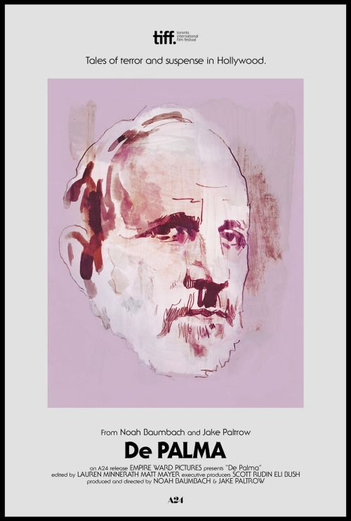"Noah Baumbach & Jake Paltrow's ""De Palma"" Poster 2/2 by Tony Stella &…"