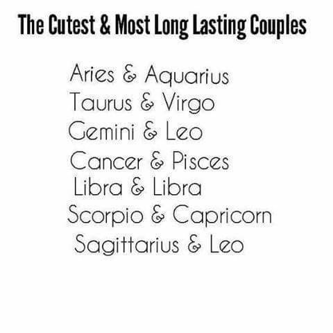 The cutest and most long lasting couples  #Zodiac