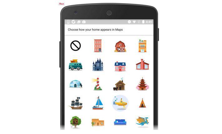 Google Maps para Android suma coloridos emoticones para personalizar nuestra casa y trabajo