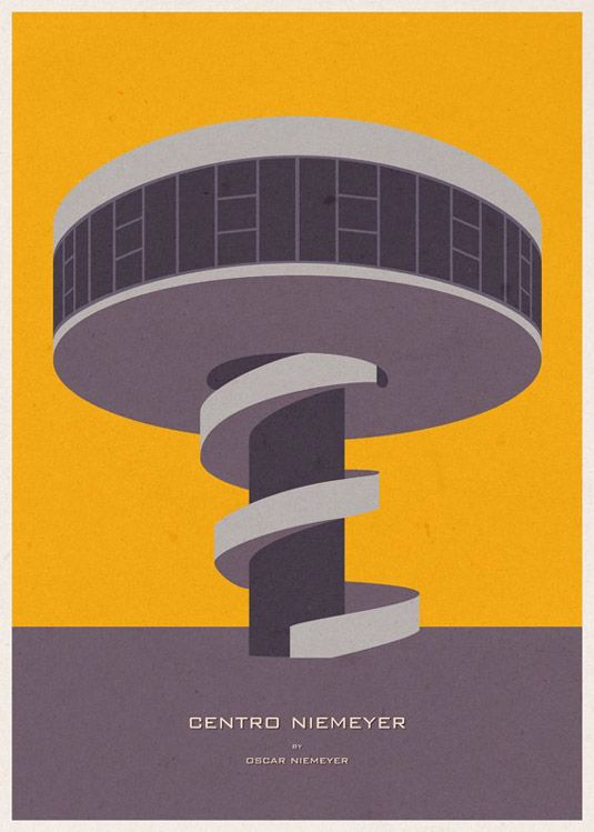 André Chiote's iconic building artwork: http://www.creativebloq.com/architecture/iconic-architecture-illustrations-3132058