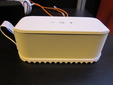 """Jarba Solemate Speaker - """"party on the beach or dance in the kitchen""""."""