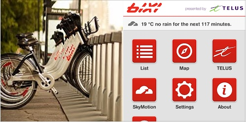 Bike-Sharing System Bixi Now Offers Hyperlocal Nowcasts Courtesy of SkyMotion