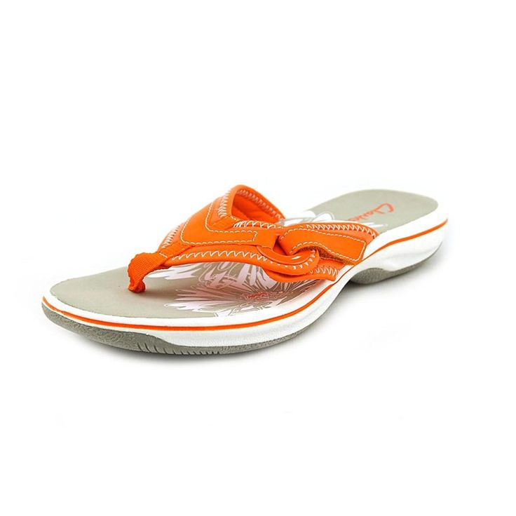 Clarks Breeze Mila Open Toe Synthetic Flip Flop Sandal => Remarkable product available now. : Clarks sandals