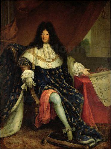 Der Sonnenkönig Ludwig XIV prägte nicht nur die Mode in Frankreich.  So trug er als erster beispielsweise den Schoßrock der Soldaten und machte ihn damit salonfähig. Der Prunk der französischen Mode dieser Zeit wird als Wandbild zur Inspiration für Modefreunde.