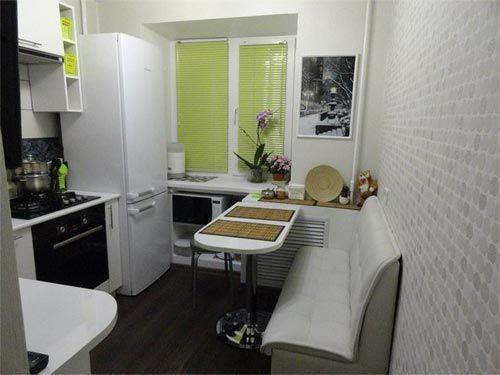 дизайн маленькой кухни 4 кв метра в коричневом цвете