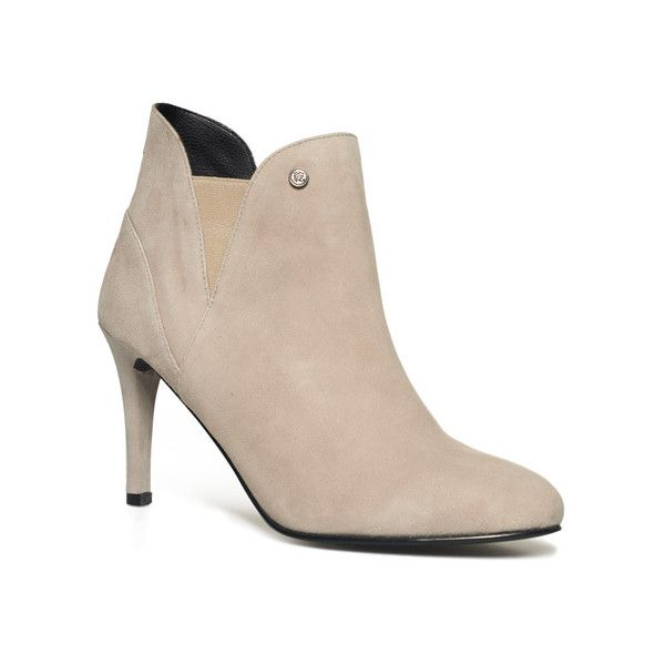 Superdry Florence Stiletto Boots (€50) ❤ liked on Polyvore featuring shoes, boots, light grey, brown stilettos, brown high heel shoes, high heel shoes, heels stilettos and stiletto high heel shoes