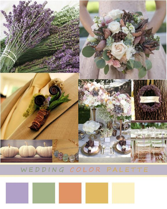 Lavender Sage Copper Gold Cream Wedding Palette