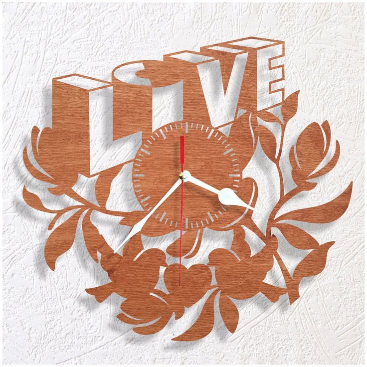LOVE wooden wall clock