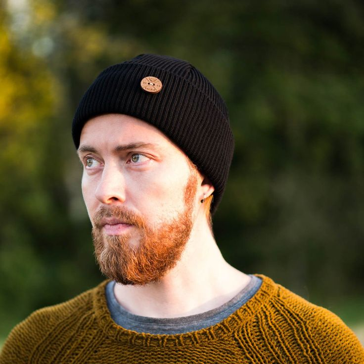 Shop now! Timberjack Beanie Black  - Ecological and Ethical Merino Wool hat by VAI-KØ