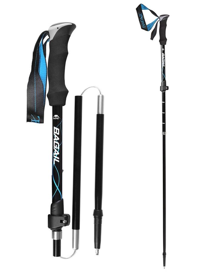Bagail Foldable Carbon Fiber Trekking poles, Ultralight Collapsible Walking Stick, Adjustable Climbing Poles with Soft foam and Rubber Handle Grips * Tried it! Love it! Click the image. : Camping stuff