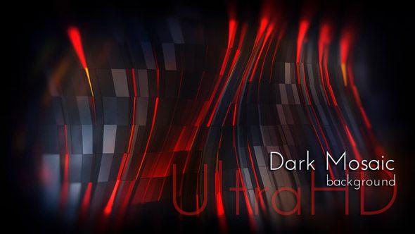 Dark Design Polygonal Fiery Mosaic Motion UltraHD Background