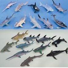 (10 шт./лот) мягкие Пластиковые Большой Акулы Модель Набор 15-20 см ПВХ Sea Life Акула Кита Морской Жизни Рисунок Игрушки Бесплатная Доставка доставка(China (Mainland))