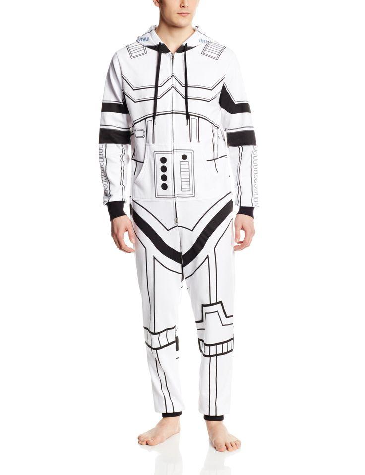 Star Wars Men's storm Trooper Jumpsuit Sweatshirt onesie pajamas cosplay