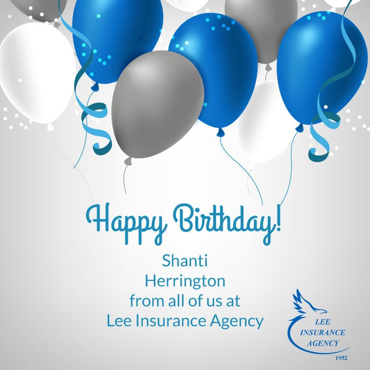 Happy Birthday, Shanti Herrington from all of us at Lee Insurance Agency! We hope you have a great day!