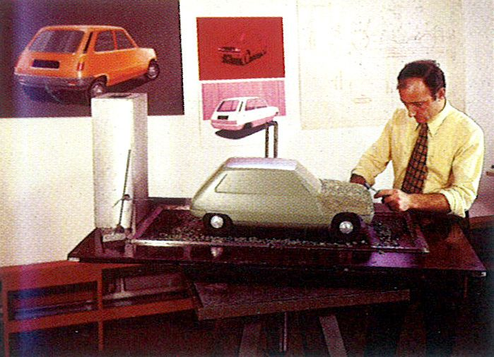 Renault 5 Clay model