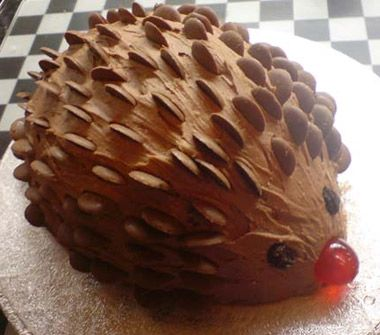 Hedgehog Novelty Cake, my fave when i was a kid