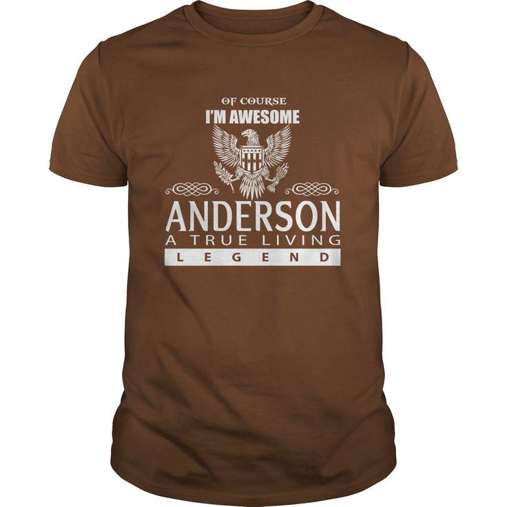 ANDERSON - A TRUE LIVING LEGEND Tshirt