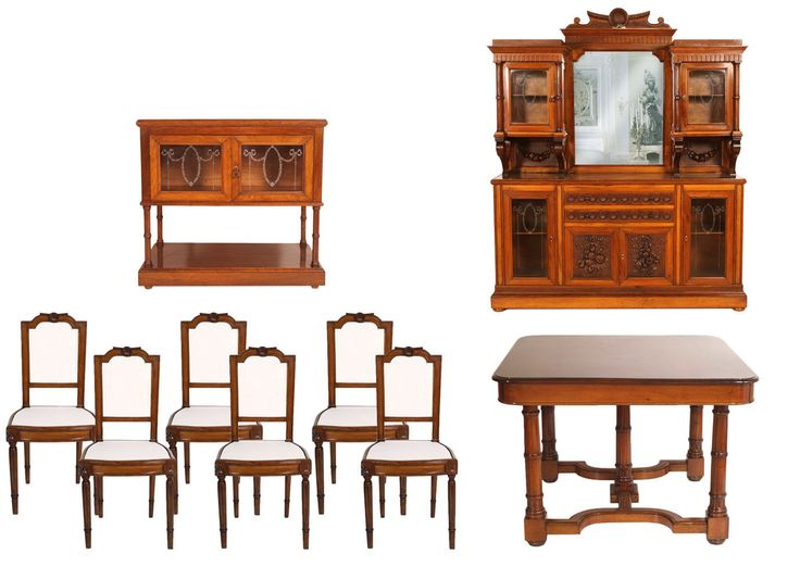 #antique #venetian set #diningroom 9 pieces #neoclassical #table #chairs #sideboard #servant visit olso http://www.artisticantichita.com/