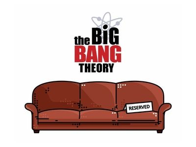 The Big Bang Theory Couch&Logo                              …