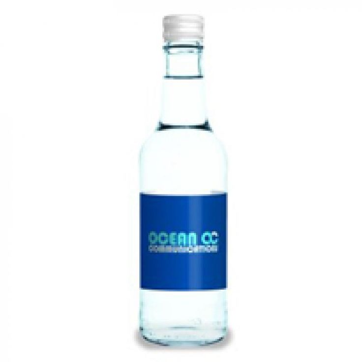 Image of Printed Glass Bottled Water - 330 ml. Promotional Water Bottle Other Sizes Available