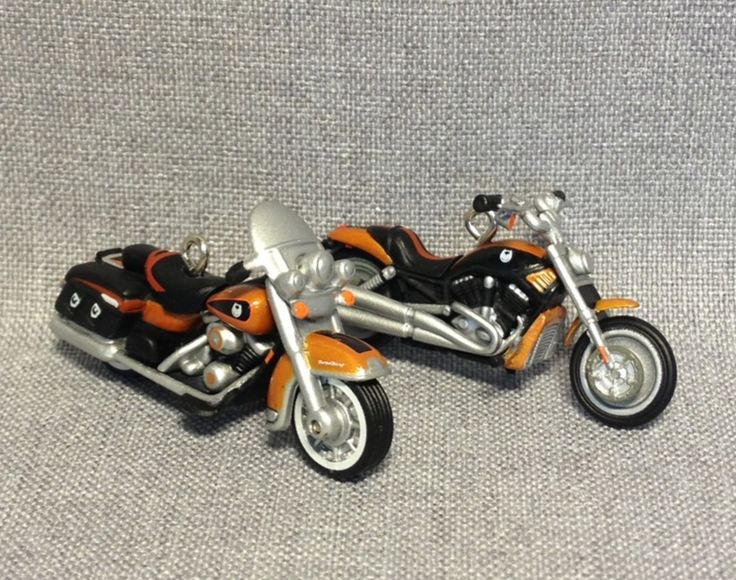 Miniature - Harley Davidson - 150th Anniversary - Set Of Two - Hallmark - 2008