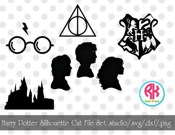 Harry Potter Silhouette Cut File Set .png .dxf by RKHeatPress